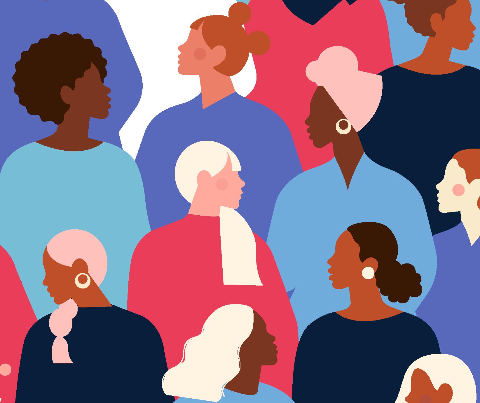 Illustration of women International Women's Day
